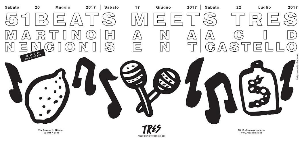 [EVENTS] TRES Mezcaleria Milano will host 51Beats for a series of events !