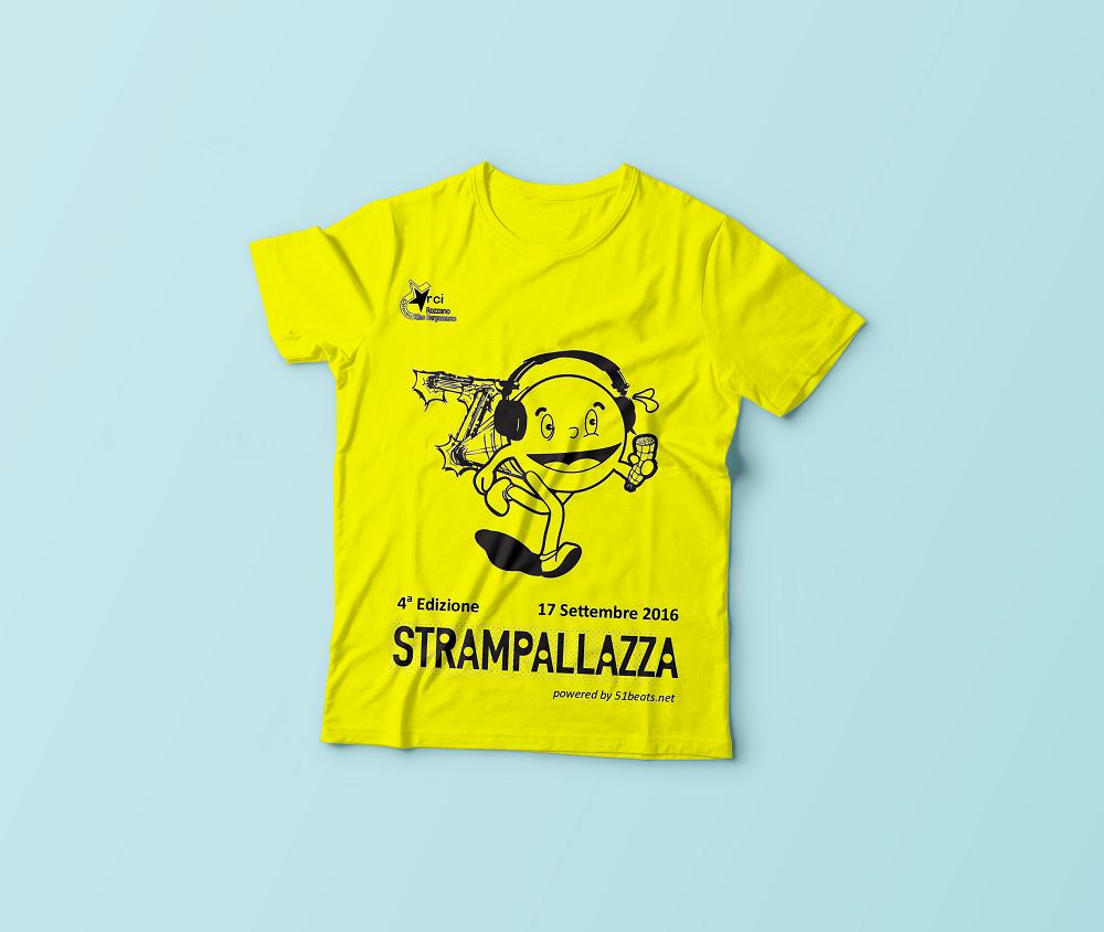 T-Shirt-strampallazza 16 giallo evidenziatore